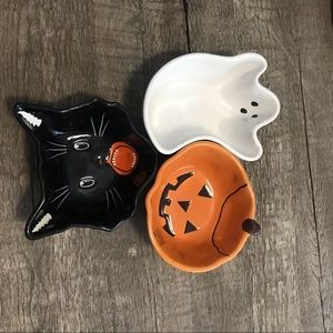 Pottery Barn HALLOWEEN Candy Dishes SET of 3 bowls